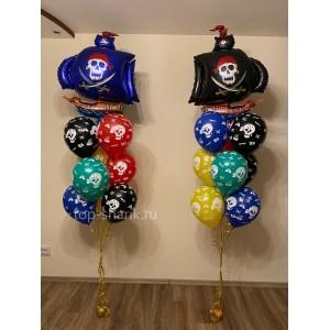 Фонтан из гелиевых шаров (Пиратский корабль)
