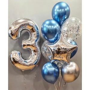 Набор шаров с цифрой на день рождения