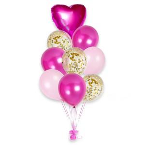 Фонтан из шаров розовый набор