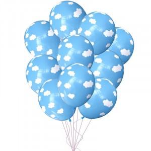 Облако шаров с гелием, светло голубой (Облака)