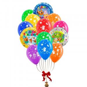 Воздушные шарики (Три Кота) С Днем Рождения